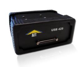 Avionics Interface Tech (AIT) Part Number- USB-429-4 Four Channel ARINC 429 Test and Simulation USB Module